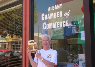 Tony Caine winner of the Historical Treasure Hunt at the Centennial Tour and Taste of Albany