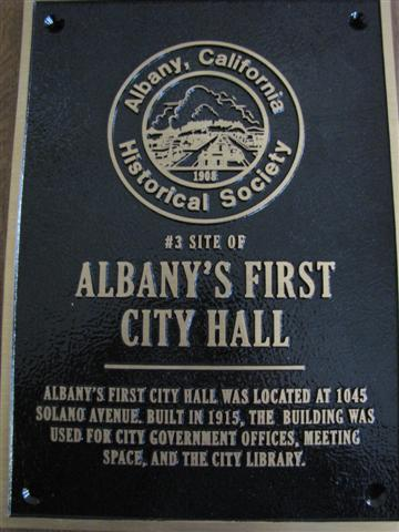AHS Plaque - Albany's First City Hall